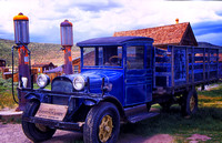GHOST TOWN BODIE CALIFORNIA 1927 BLUE DODGE PICK UP TRUCK  OLD GAS PUMPS STUDIOSCHATTO IMG 017